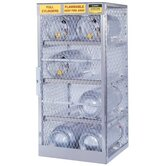 Aluminum Cylinder Lockers - horizontal 4 cylinder locker