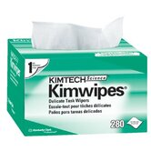 Kimtech Science&reg; Kimwipes&reg; Delicate Task Wipers - 4.5&quot;x8.5&quot; white kimwipesex-l 1-ply 280/b