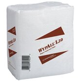 WypAll&reg; L20 Wipers - 4-ply kimtowels q-fold white 68 wipes/pk