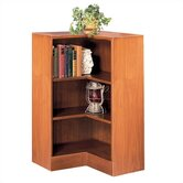 "1100 NY Series 36"" H Three Shelf Inside Corner Bookcase"
