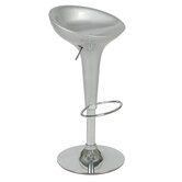 Ashley Adjustable Bar Stool in Silver
