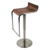 Forest Adjustable Bar Stool in Walnut