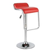 Furgus Adjustable Bar Stool in Red