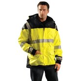 Occulux Safety Windbreaker 2XL in Hi-Viz Yellow