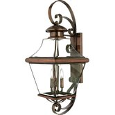 "34.5"" Carleton Outdoor  Wall Lantern in Aged Copper"