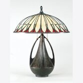 Alhambre' Tiffany  Table Lamp in Burnt Cinnamon