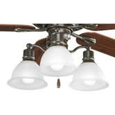 Madison Three Light Branched Ceiling Fan Light Kit