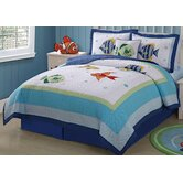 Colorful Sea Full / Queen Quilt with 2 Shams