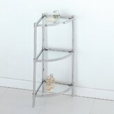 Glacier Three Tier Corner Etagere in Chrome