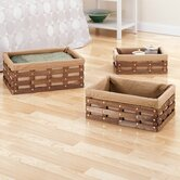 Havana Rectangular Baskets in Brown (Set of 3)