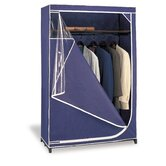 Deluxe Storage Wardrobe in Navy with White Trim