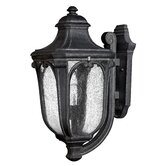 "Trafalgar 22"" x 10"" Outdoor Hanging Lantern in Museum Black - Energy Star Optional"