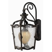 Sorrento Outdoor Wall Lantern in Aged Iron