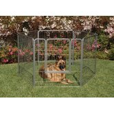"Courtyard Kennel 38"" Exercise Pen in Silver Crackle"