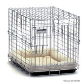 Suitcase Dog Crate in Chrome