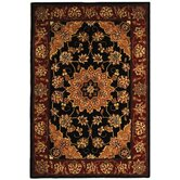 Traditions Black/Burgundy Rug