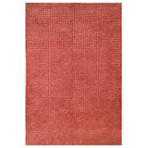 Tibetan Greek Key Rust Rug