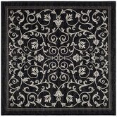 Courtyard Black/Sand Rug