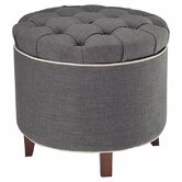 Amelia Fabric Ottoman