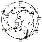Wrought Iron Tealight Wall Decor