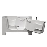 Handi-Tub Walk in Whirlpool Bath Tub in White