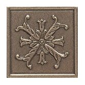 "Accent Statements Metal 2"" x 2"" Fiore Decorative Corner/Insert in Vintage Bronze"