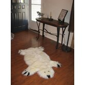 Designer Bear Ivory/Black Animal Rug