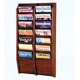 Fourteen Pocket Wall Mount Magazine Rack