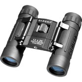 12x25 Lucid Binoculars Black Compact, Blue Lens