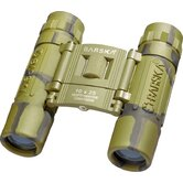 10x25 Lucid Binoculars Camouflage Compact, Blue Lens