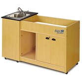 Kiddie Station 1 Stainless Steel Portable Hand-Washing Station with Changing Table