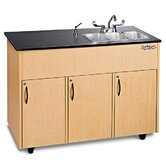 Advantage 3 Portable Storage Cabinet with Triple Sink  NSF Certified