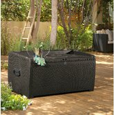 XL Rattan Style 105 Gallon Deck Box