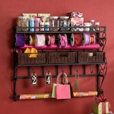 Lynbar Wall Mount Craft Large Storage Rack with Baskets