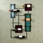 Ravenel 8 Bottle Wall Mounted Wine Rack