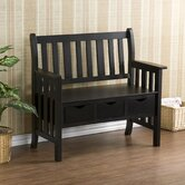 Ballston Country Storage Wood Entryway Bench