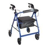 Aluminum Rollator with Fold Up and Removable Back Support