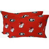 Georgia Bulldogs King Pillow Case Set