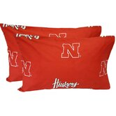 Nebraska Cornhuskers King Pillow Case Set