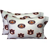 Auburn Tigers Pillow Case Set in White