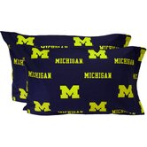 Michigan Wolverines Pillow Case Set