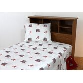 Alabama Printed Sheet Set in White