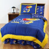 Kansas Bed in a Bag with Team Colored Sheets