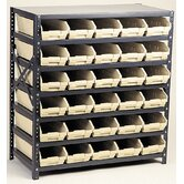Economy Shelf Storage Units (39&quot; H x 36&quot; W x 12&quot; D) with Small Bins