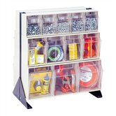28&quot; Double Sided Floor Stand Storage Unit with Tip Out Bins