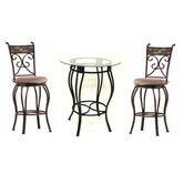 Three Piece Beau Metal Pub Set in Black and Gold