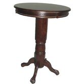 Florence Pedestal Pub Table in Cappuccino