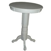 Florence Pedestal Pub Table in Solid White