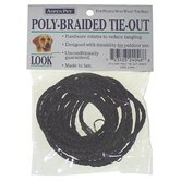 Aspen Pets Poly Braided Tie Out in Black