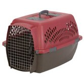 Large Fashion Pet Carrier in Samba Red and Coffee Ground